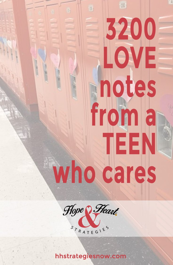 Valentine's Day, Teen makes a difference, Sharing the love